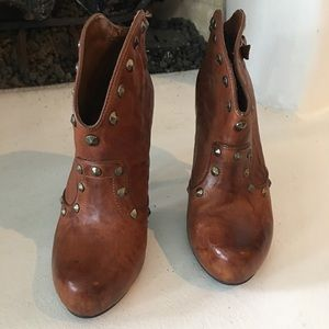 BCBG Leather studded Ankle boots
